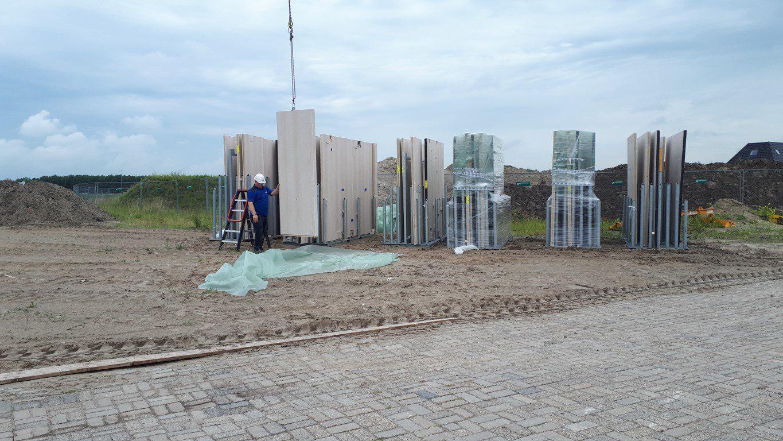 FAAY Kingsize wanden 'lego-steen' in Droogbouwwoning Harkema