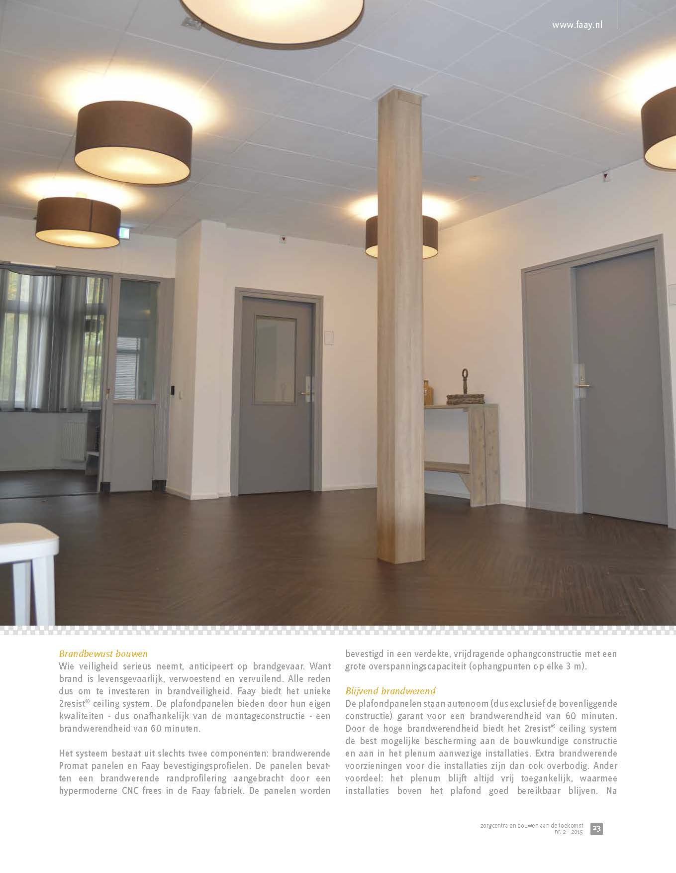 Faay Wanden en Plafonds - 2Resist 60 ceiling system - zorgcentra