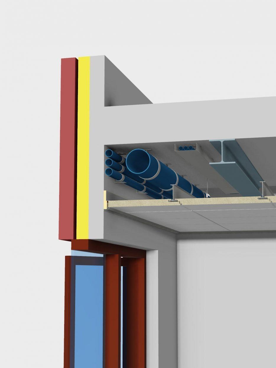 Faay Wanden en Plafonds - 2resist 60 ceiling system - 2resist 60 ceiling system - BIM 3D tekening
