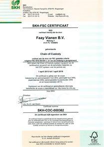 Faay Wanden en Plafonds - Certificaat SKH FSC