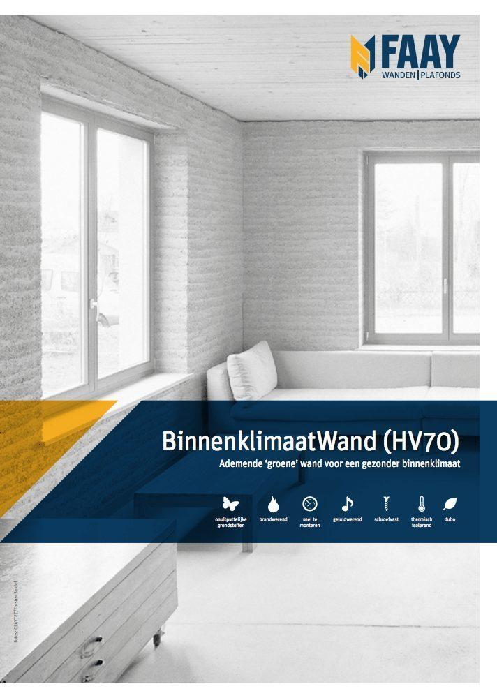 Faay Wanden en Plafonds - BinnenKlimaatWand - HV70 - HV84