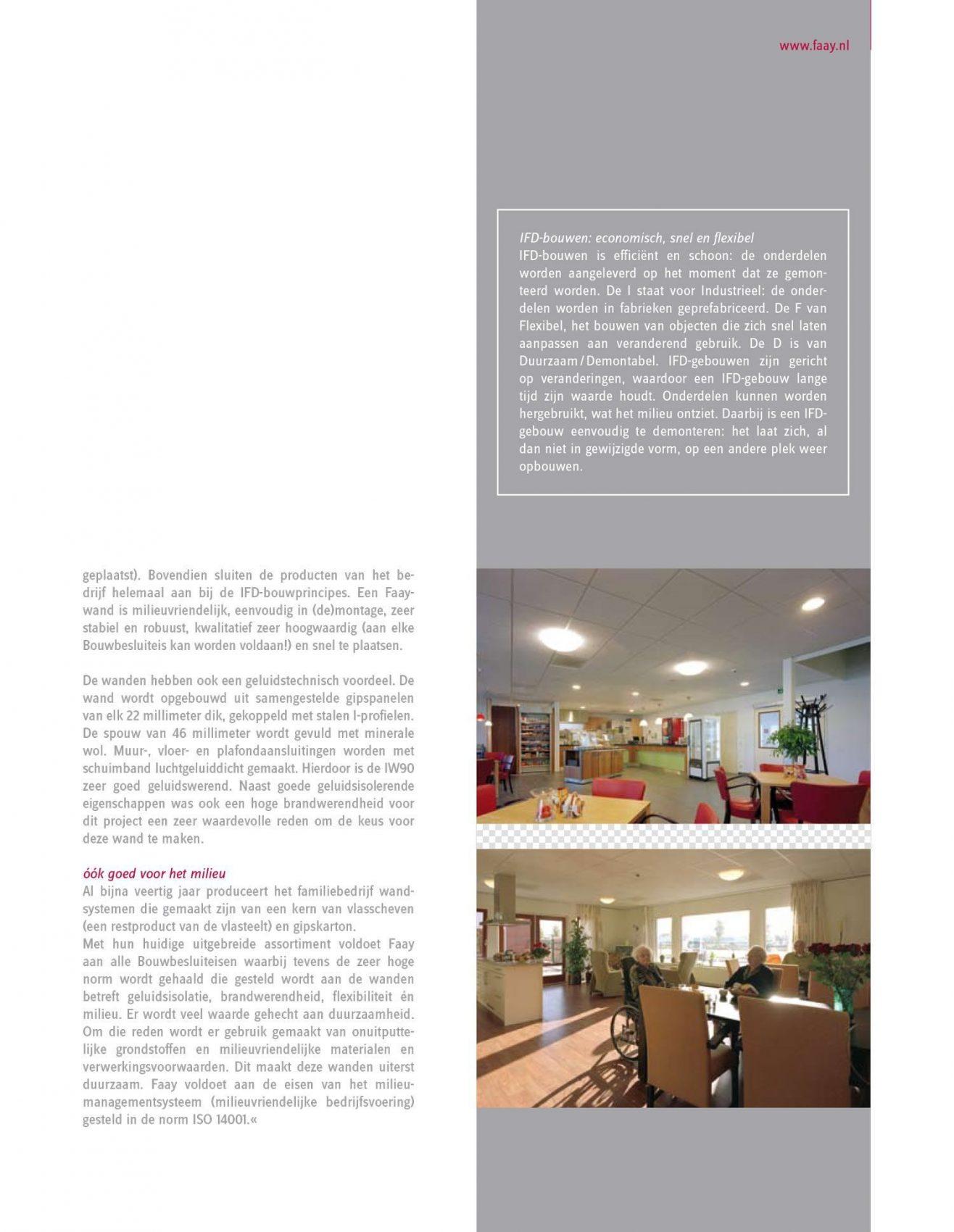 Faay Wanden en Plafonds - IFD bouwen - zorgcentra