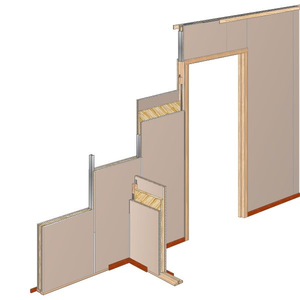Faay Wanden en Plafonds - IW100 IW125 IW90 - Akoestische isolatiewand