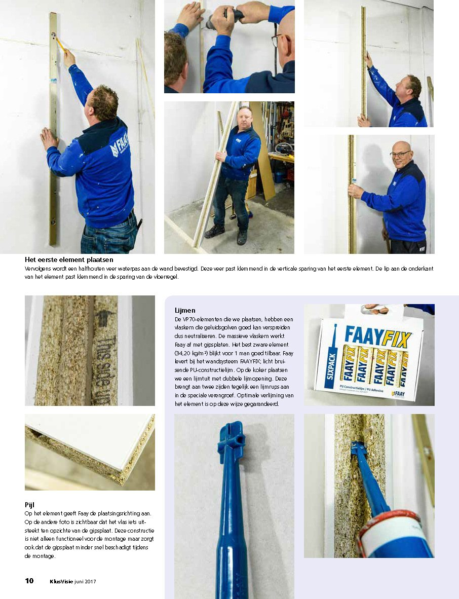 Faay Wanden en Plafonds - klusvisie, binnenwandsysteem