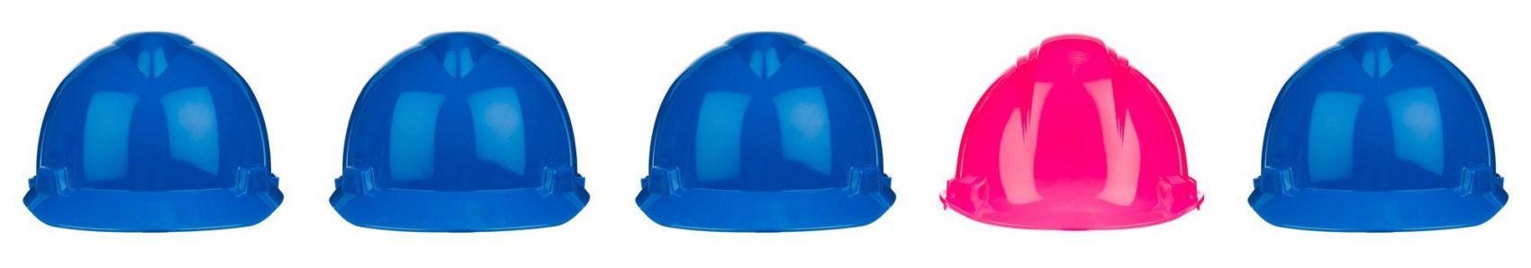 Vrouwen in de blauwe bouw