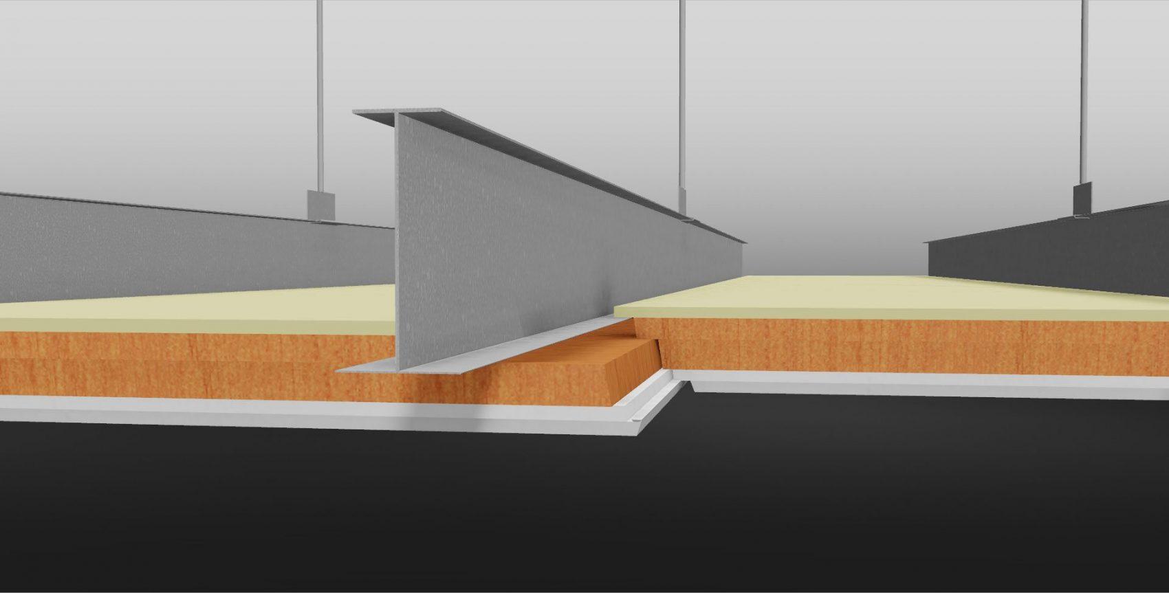 Faay Wanden en Plafond - Brandwerend plafond detail
