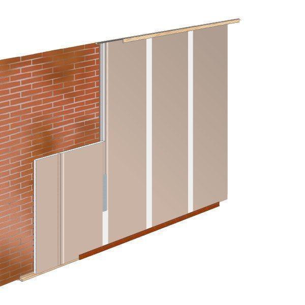 Faay Wanden en Plafonds - Slankste voorzetwand geluidsisolatie - GP22